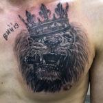тату лев, татуировка льва, черная метка, тату саратов, татуировка в саратове,