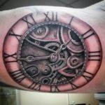 old clock tattoo