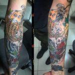 татуировка карпа/koi tattoo